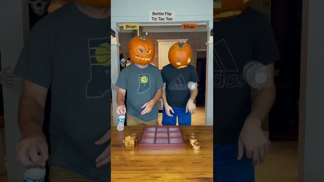 Pumpkin head tic tac toe!! Who's the champ??