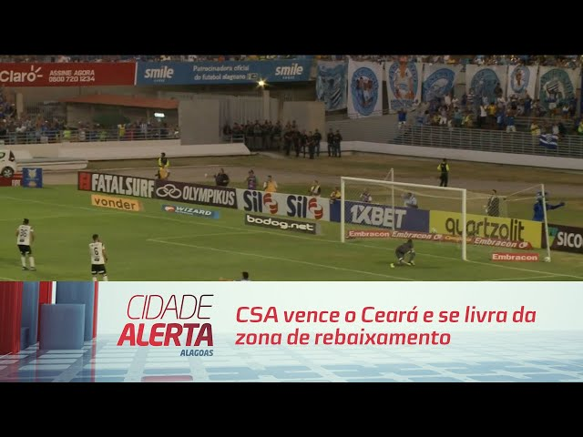 Futebol: CSA vence o Ceará e se livra da zona de rebaixamento