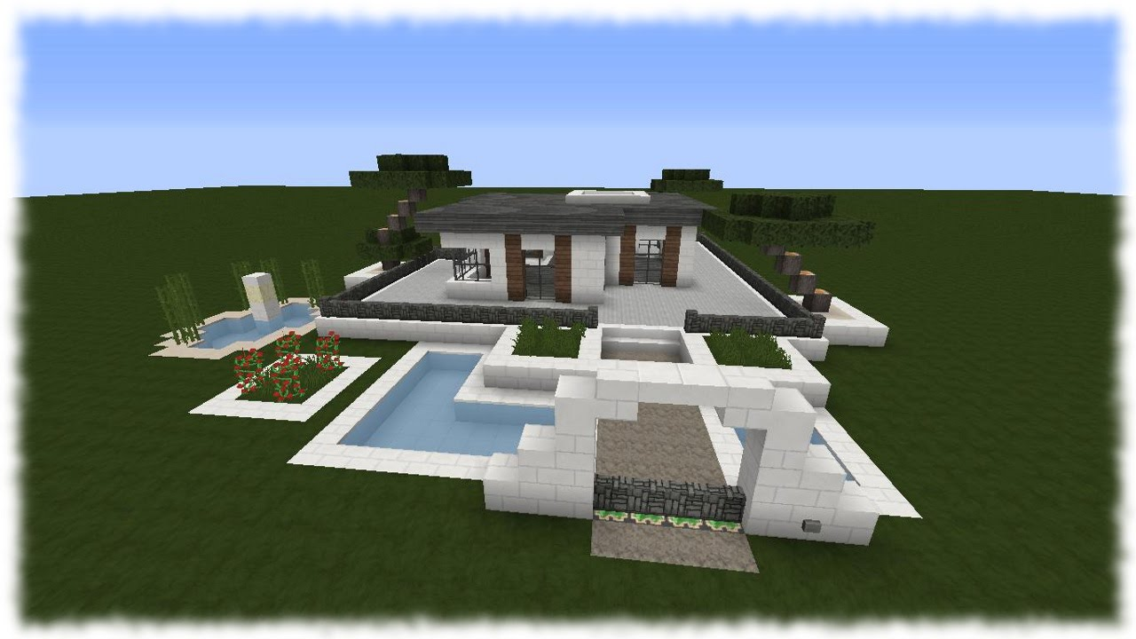 Minecraft Tutorial Wie Baue Ich Ein Schönes Haus Bungalow - Minecraft schones haus bauen anleitung