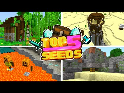 Minecraft Bedrock | TOP 5 BEST SEEDS | Bamboo Village! (PE, Xbox, PS4, Switch & W10)