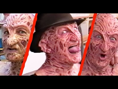 FREDDY VS. JASON Robert Englund  On Set in the MakeUp Chair