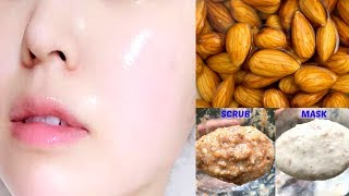 Skin Whitening Face Scrub & Face Mask | Almond Facial For Fair Skin | Anti Ageing Home Remedies