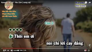 Karaoke Tân cổ YÊU LẦM thiếu kép