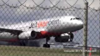 vh vgt jetstar airbus a320 take off engine pure thrust sound crank it up