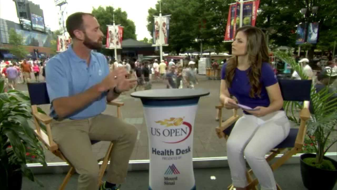 Mount Sinai Health Desk at the US Open - Preventing Heat Illness
