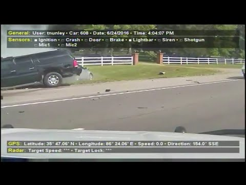 Dash cam video released of deadly police chase in Rutherford County