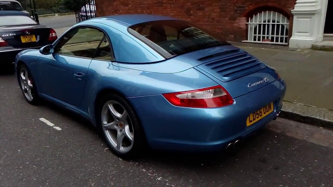 London Blue Porsche 911 Carrera 4s Hardtop 997 Youtube