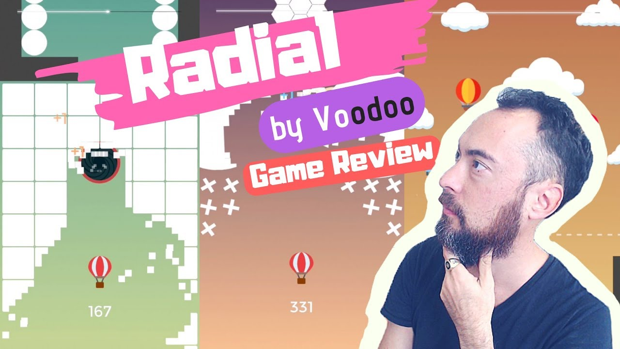 🔥RADIAL 🔥by Voodoo 🥳Game Play Review 377 🤩 Rise Up Meets Hole.IO 🤤 Ranked #13 AppStore image