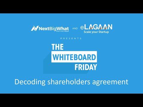 Decoding shareholders agreement [Whiteboard Friday]