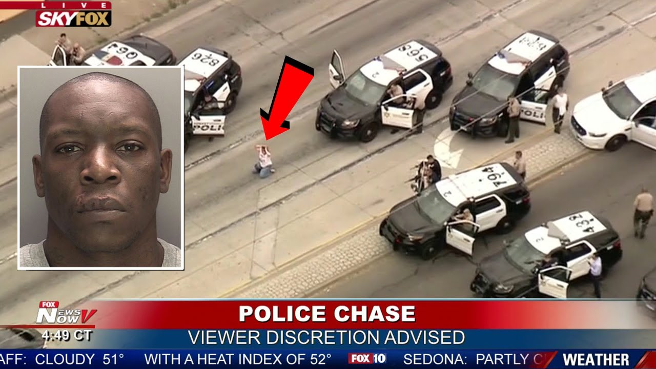 10 Scariest Police Chases of All Time (Caught On Camera)