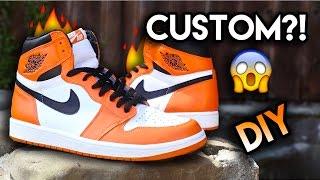 How To: Jordan Reverse Shattered Backboard Custom From Yin Yang 1's   Full Conversion + On Feet