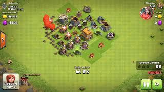 Clash of clans..baloon tran danh de dang nhat cua nha 4