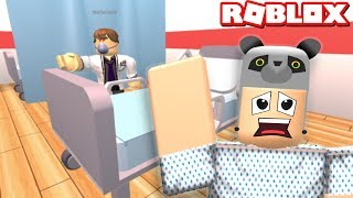 We're Escaping From The Crazy Hospital!! - Roblox Escape Hospital OBBY with Panda