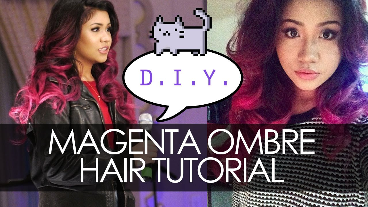 Magentapink ombre hair dye tutorial highly requested youtube solutioingenieria Gallery
