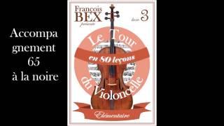 """Accompagnement leçon 58 """"Le moustique"""" Livre 3 du tour du violoncelle en 80 leçons"""