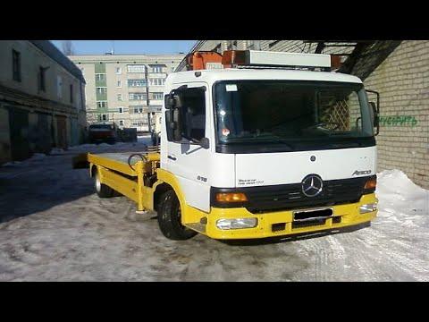 Cмотреть Замена передних тормозных колодок Mercedes Atego