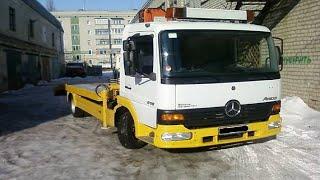 Замена передних тормозных колодок Mercedes Atego