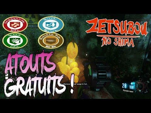 ZETSUBOU NO SHIMA ZOMBIES | OBTENIR LES ATOUTS GRATUITEMENT ! | TUTO BO3 EASTER EGG