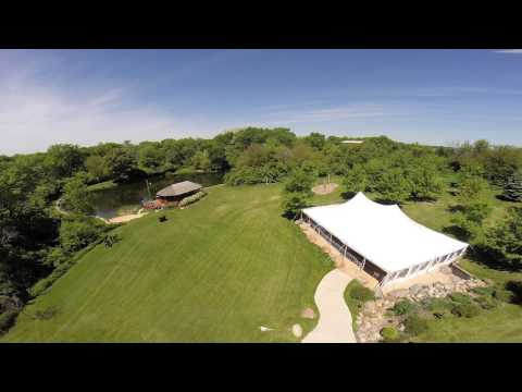 aerial-view-of-outdoor-wedding-venue-with-tent-@harvest-preserve-in-iowa-city