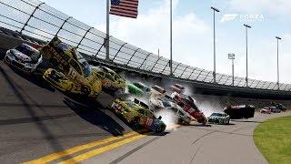Huge Crash! | Forza Motorsport 6 | NASCAR Expansion