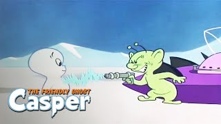 Casper Classics | Cold Wave/Counter Attack | Casper the Ghost Full Episode