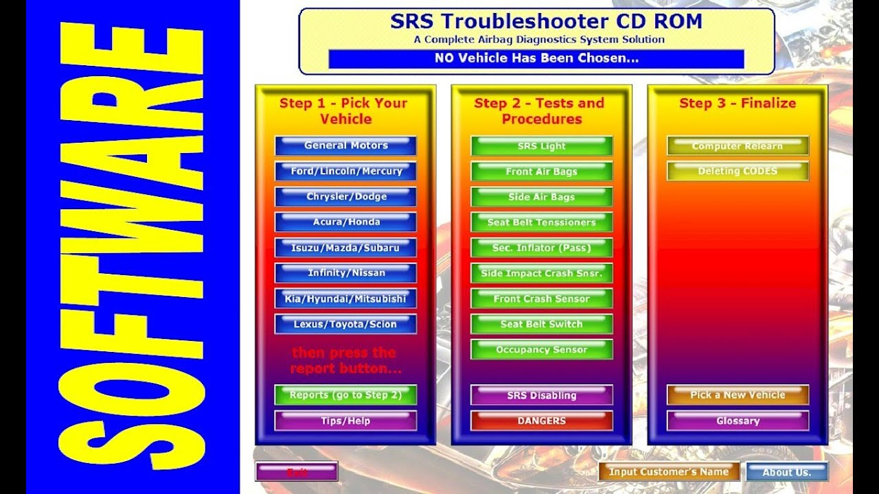 SRS Airbag Troubleshooter Software