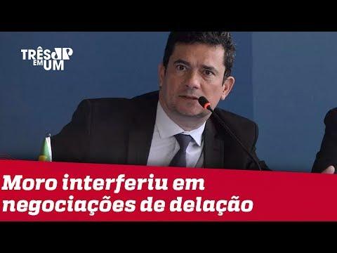 Moro interferiu nas negociações das delações premiadas de dois executivos, diz Folha de S.Paulo