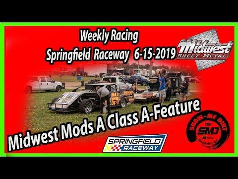 S03-E300 Midwest Mods A-Class A-Feature Springfield Raceway 6-15-2019 #DirtTrackRacing