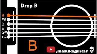 Гітарний Тюнер - Падіння B (Б Ф# Б Е Р# C#)