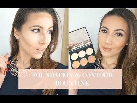 My Foundation & Contour Routine | Sleek MakeUp Cream Contour Kit | Through Mona's Eyes