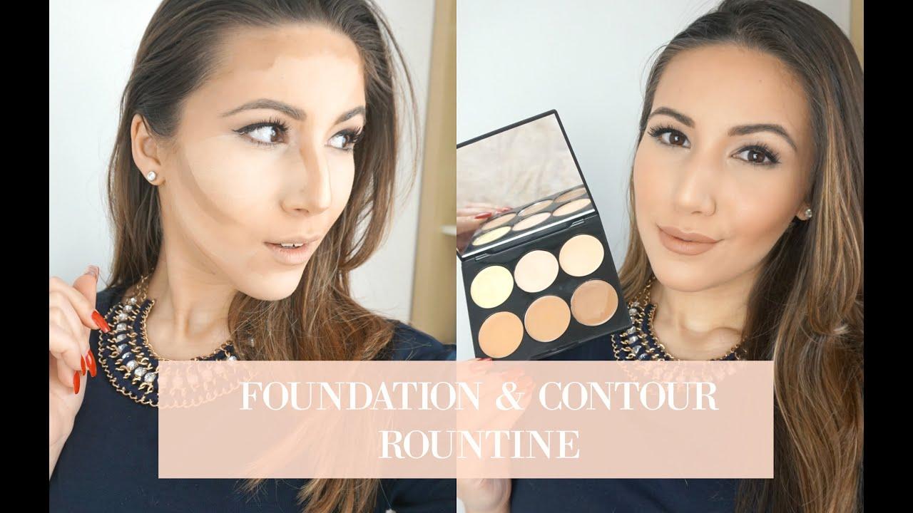 My Foundation & Contour Routine | Sleek MakeUp Cream Contour Kit ...