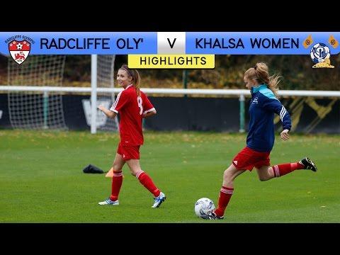 Radcliffe Olympic 0 - 1 Khalsa Women | Extended Highlights | FA Women's Premier League | 2016/17