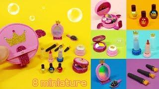 DIY 8 Miniature makeup for Barbie ! doll craft & hacks