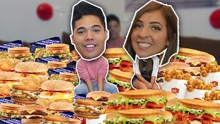 ENTIRE JACK IN THE BOX MENU in 10 MIN! (ft. theGABBIEshow)