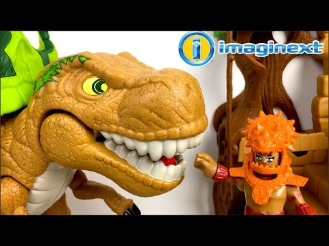 IMAGINEXT DINO FORTRESS GIFT SET WITH T-REX TRICERATOPS  VOLCANO WARRIORS & LAVA ACTION - UNBOXING