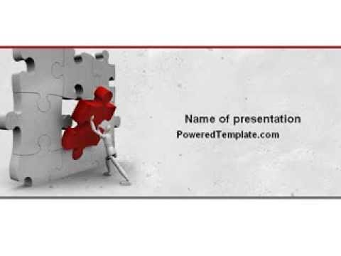 Inserting Missing Part PowerPoint Template by PoweredTemplate.com