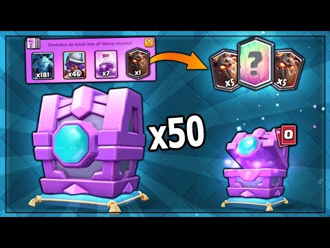 OPENING x50 NEW FORTUNE CHESTS! PREDICT LEGENDARIES? | Clash Royale | NEW FORTUNE MASS CHEST OPENING