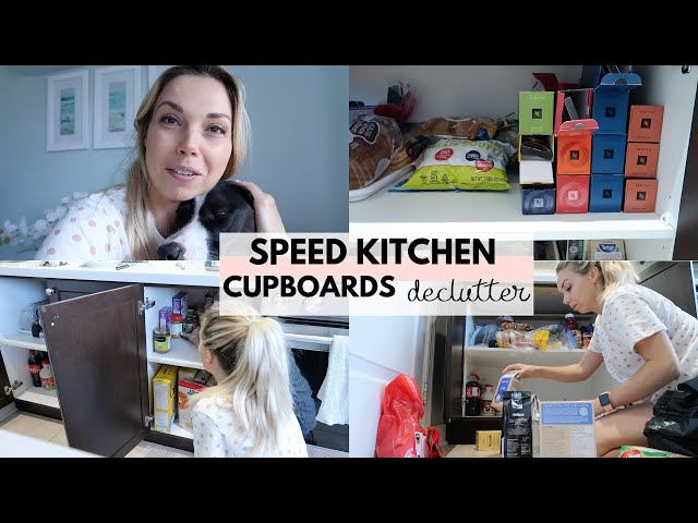 Speed Kitchen Declutter and Organization | Konmari Motivation