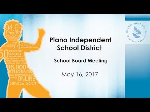 School Board Meeting -  May 16, 2017