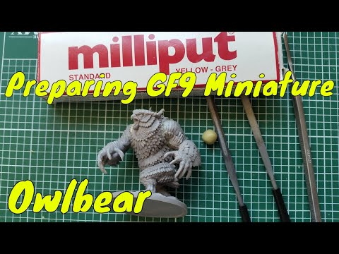 Preparing The Exclusive D&D Owlbear Miniature (Gale Force 9) & Chat