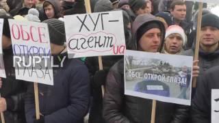 Ukraine  Donetsk protesters denounce 'ineffective' OSCE