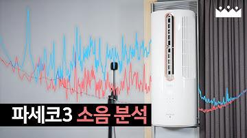 고주파 없다며 😒 파세코 창문형 에어컨3 소음 주파수 측정리뷰