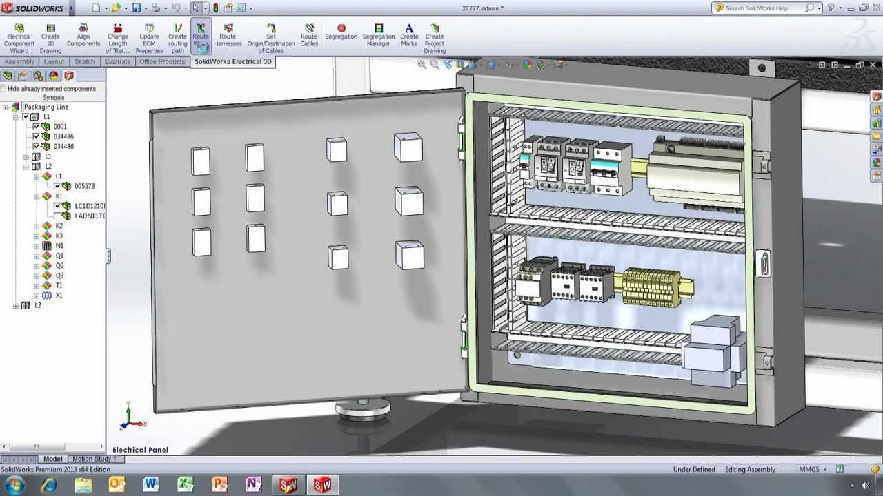 panel wiring diagram software doerr motor lr22132 solidworks 2013 electrical youtube