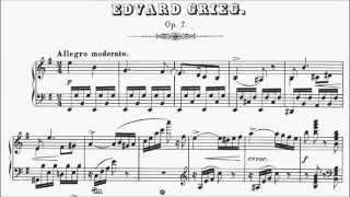 ABRSM Piano 2015-2016 Grade 8 B:2 B2 Grieg Allegro Moderato (Sonata in E Minor Op.7) Sheet Music