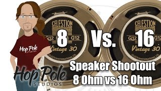 8 Ohms or 16 Ohms? Vintage 30 - METAL Celestion Speaker Comparison