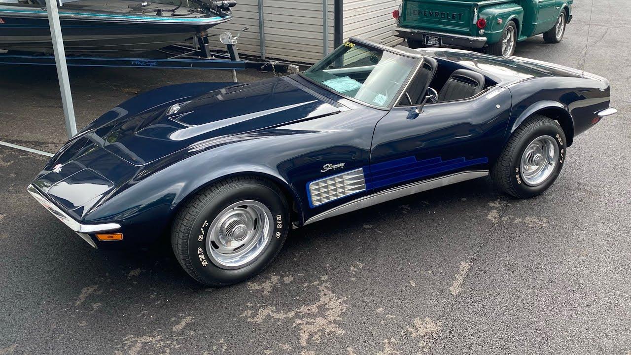 Test Drive 1972 Chevy Convertible Corvette $28,900 Maple Motors #1135