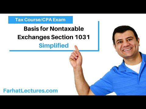 Basis for Nontaxable Exchanges Section 1031 | Corporate Income Tax | CPA REG | Ch 13 P 2