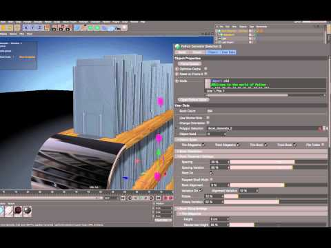 Cinema 4D R17 – Bookshelf Generator
