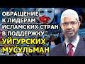 Обращение Закира Найка к исламским правителям в поддержку УЙГУРСКИХ МУСУЛЬМАН!