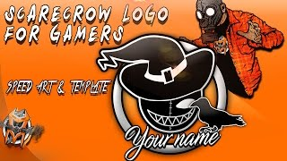 Gaming ScareCrow Logo - Speed Art and Template